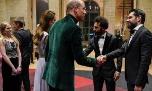 محمد صلاح في القصر الملكي البريطاني. .. فيديو يظهره وهو يتحدث مع  الأمير ويليام وزوجته