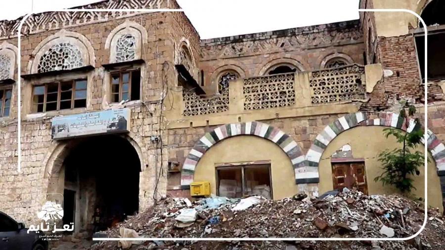 شاهد: انهيار المتحف الوطني في تعز
