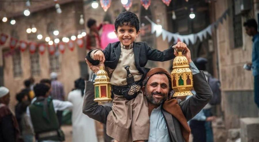 أطفال اليمن يستقبلون شهر رمضان بالأناشيد والفرح