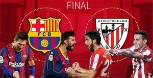 تعرف على ملعب وموعد مباراة برشلونة وأتلتيك بلباو النهائية