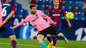 شاهد| برشلونة يتعادل مع ليفانتي ويضعف حظوظه في المنافسة على الليغا